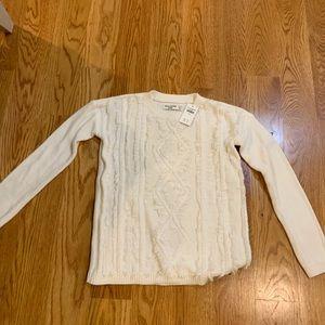 Girls white sweater